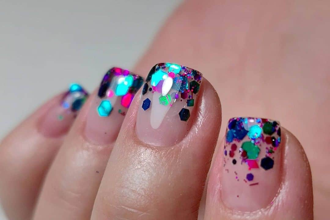 Encapsulating chunky glitter by Joanne